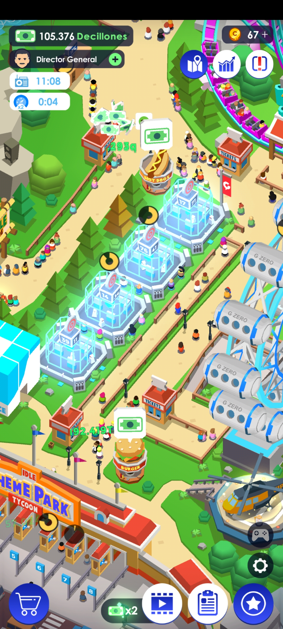 Idle Theme Park Tycoon - Recreation Game Mod apk download