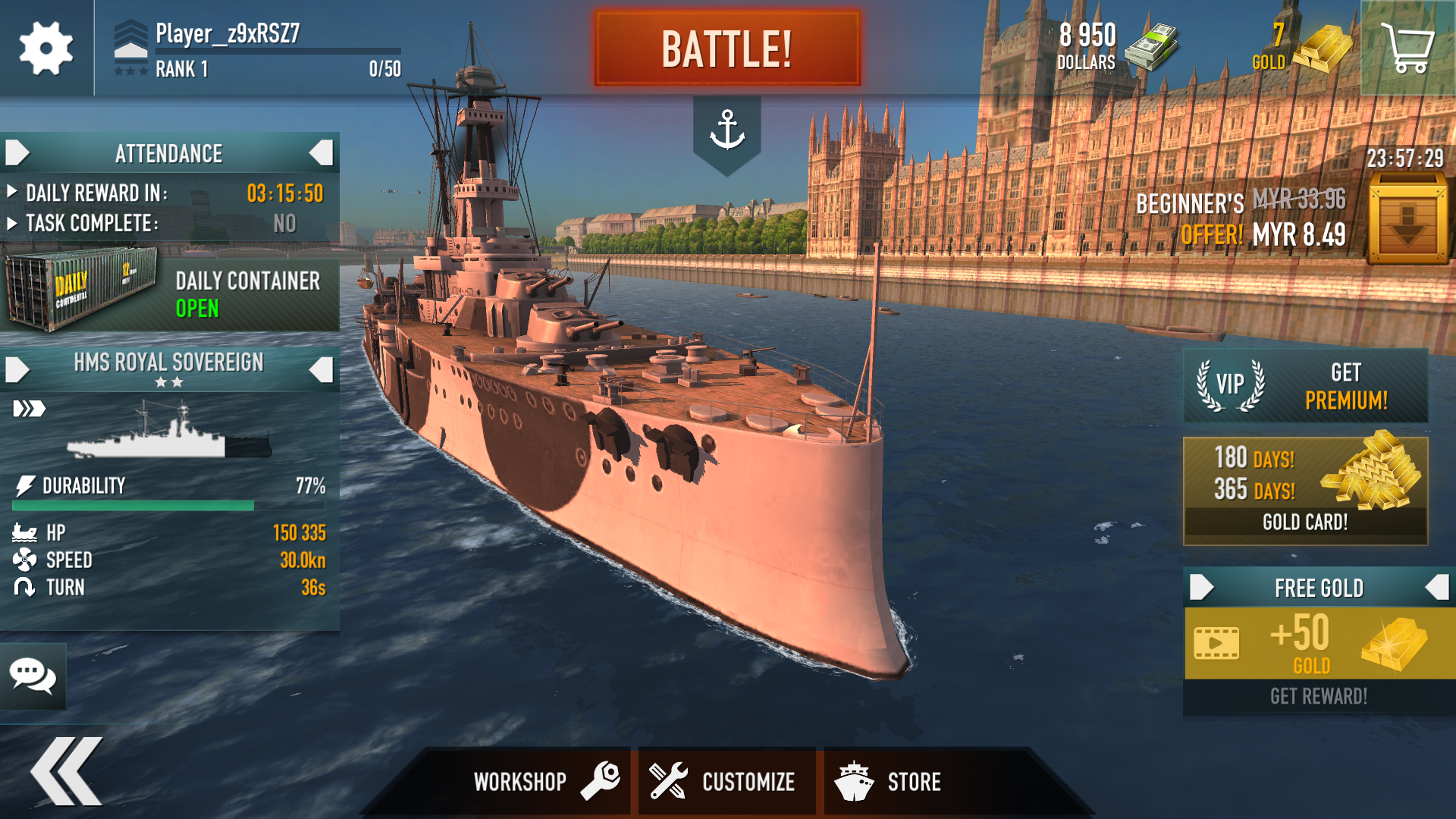 Battle of Warships: Naval Blitz Mod apk download - Cube Software