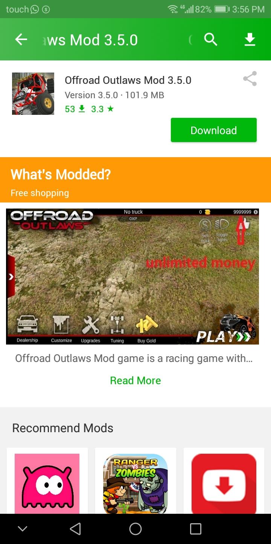 Offroad Outlaws Mod apk download - Battle Creek Games